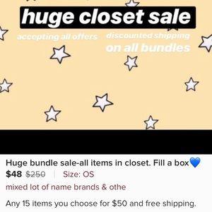 Huge Bundle Sale-All items in closet-Fill a Box 💙